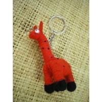 Porte clés Gigi la girafe rouge