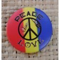Badges peace and love