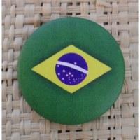 Badge drapeau du Brésil