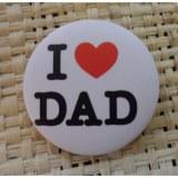 Badge I love dad