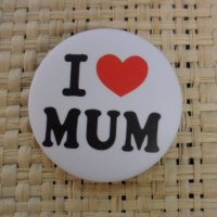 Badge I love mum