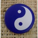 Badge Yin Yang bleu