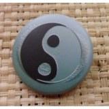 Badge Yin Yang vert