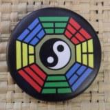 Badge Yin Yang hexa noir color
