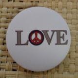Badge  love & peace
