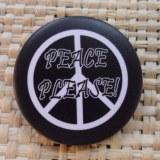 Badge peace please noir