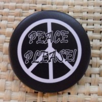 Badge peace please noir
