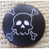 Badge 4 tête de mort noir & blanc