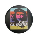 Badge Che Guevara bandes de couleur
