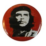 Badge Che Guevara  fond rouge