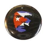 Badge Che Guevara Visage drapeau Cubain