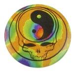 Badge Yin Yang Multicolore tête de mort
