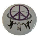 Badge Peace and Love Tous ensemble