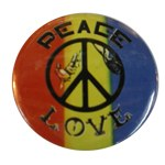 Badge Peace and Love 3 couleurs