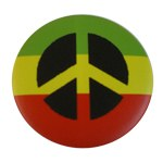 Badge Peace and Love Rasta