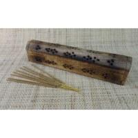 Porte et range encens en bois india