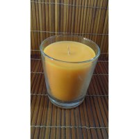 Bougie verre orange