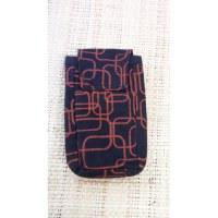 Pochette smartphone motif géo noir