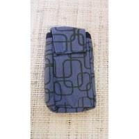 Pochette portable motif géo grise