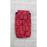 Pochette portable motif géo rouge