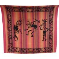 Maxi tenture danse tribale rayé rose