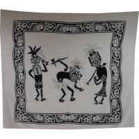 Maxi tenture danse tribale noir et blanc