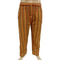 Pantalon rayé Gandaki orange