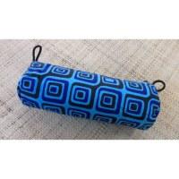 Trousse motif carré bleu