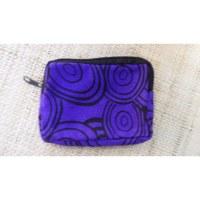 Porte-monnaie cercles violet