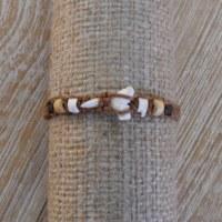 Bracelet macramé marron dent de requin
