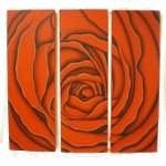 Tableau floral triptyque rose