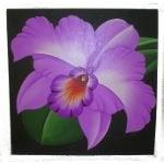 Tableau orchidée violette