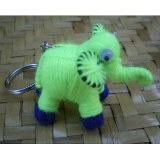 Porte clés Ephant l'éléphant fluo