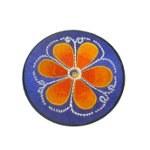 Ecusson fleur orange