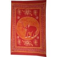 Tenture batik fancy éléphant