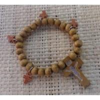 Chapelet bracelet perles claires