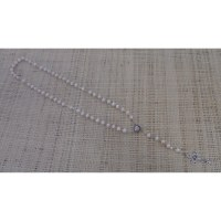 Chapelet Vierge et perles