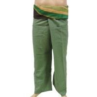 Pantalon thaï vert revers rayong vagues