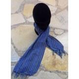 Foulard rayé bleu 2