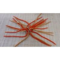 Chouchou big laine bouillie orange