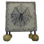 Bougeoir en peau carré araignée