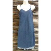 Robe longue d'été bleu marine