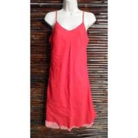 Robe longue d'été rouge