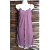 Robe longue d'été violette