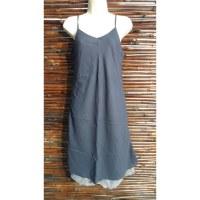Robe longue d'été bleu gris