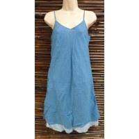Robe longue d'été bleue