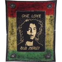 Tenture batik Bob Marley one love