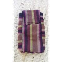 Pochette portable coton rayé