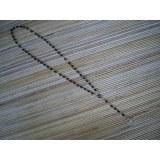 Chapelet noir perles grain de riz