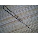 Chapelet noir perles nacrées